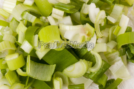 leeks scallions with root as a