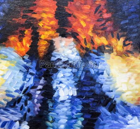 impressionismus abstrakte malerei struktur