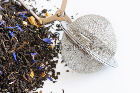 teekugel und duftenden tee