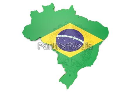 karte abbildung von brasilien