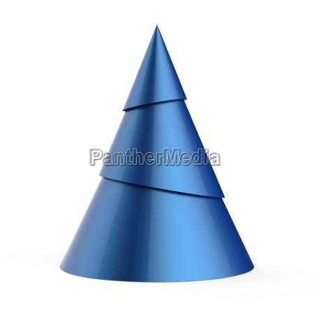 blau stilisierten weihnachtsbaum auf weissem hintergrund