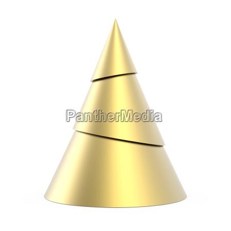 gold stilisierten weihnachtsbaum auf weissem hintergrund