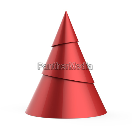 red stylized christmas tree isolated on