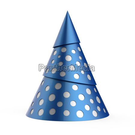 blue stylized christmas tree with silver