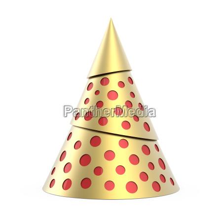 gold stilisierten weihnachtsbaum mit roter dekoration