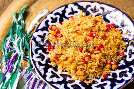 orientalischer shah pilaf pilaw plov reis