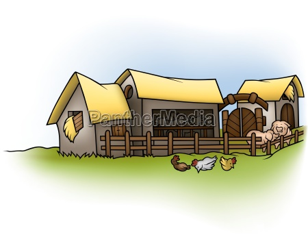 farm, -, cartoon, background, illustration, , - 12696814