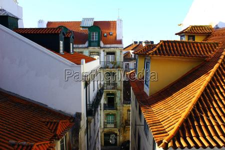 detail eines gebaeudes lissabon portugal
