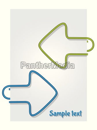 color paper clips on paper