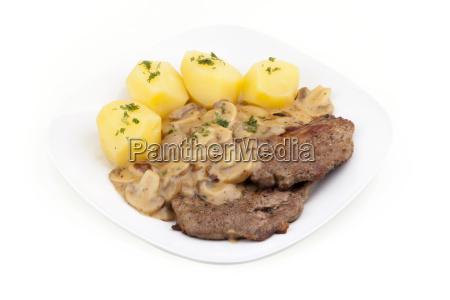 steak with mushrooms steak mit