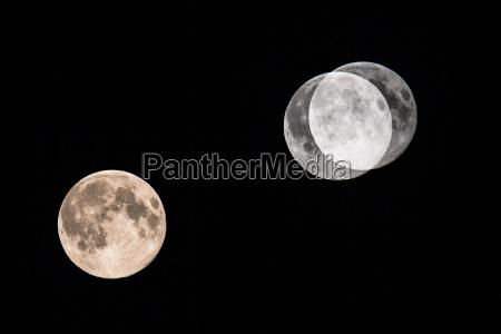 big moon on dark night sky