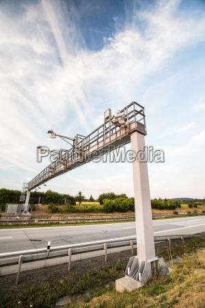 toll gate on a highway