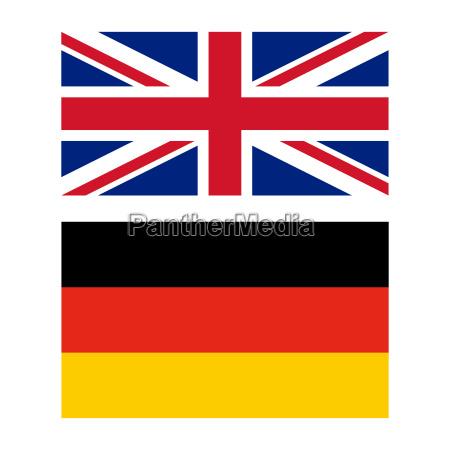 flagge von grossbritannien und deutschland