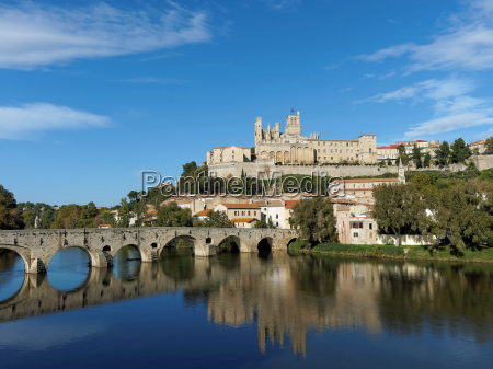 beziers in autumn france