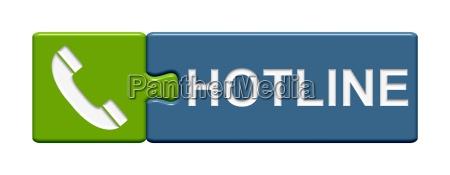 puzzle button gruen blau hotline
