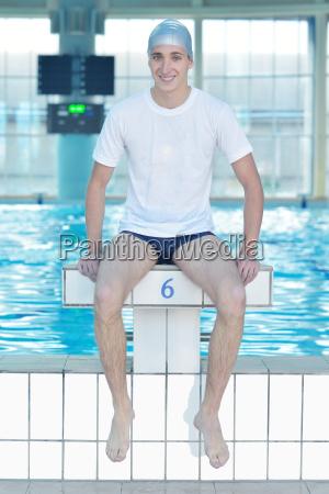 schwimmer sportler