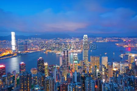 hong kong skyline von victoria peak