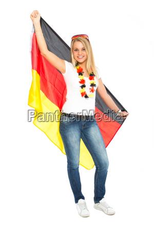 frau mit deutschland fahne