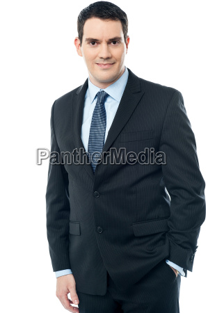 middle aged business man isolated on