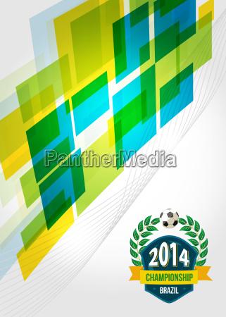 abstrakte geometrische brasilien design