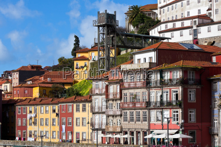 old town of porto portugal view