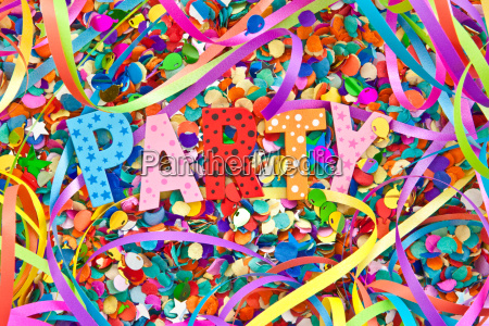 party in colorful letters