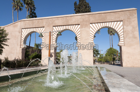 fountain in the city of marrakesh