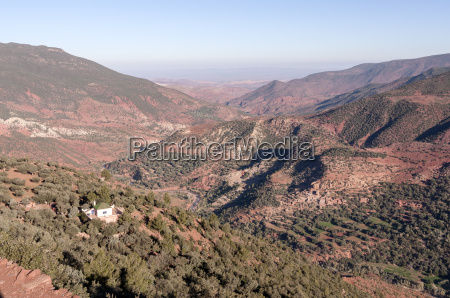 view over the atlas mountains in