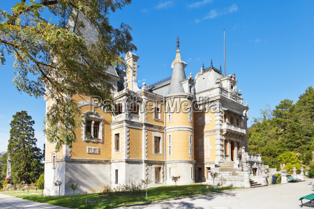 fassade von massandra palace auf der