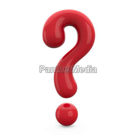 red 3d question mark isolated on