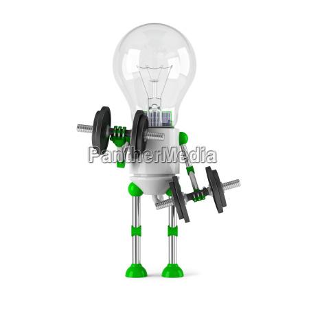 solarbetriebene gluehbirne roboter fitness