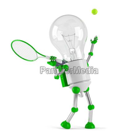 solarbetriebene gluehbirne roboter tennis
