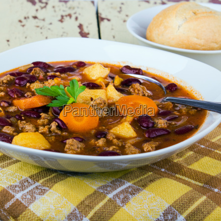 beans plate vegetable carrots food dish