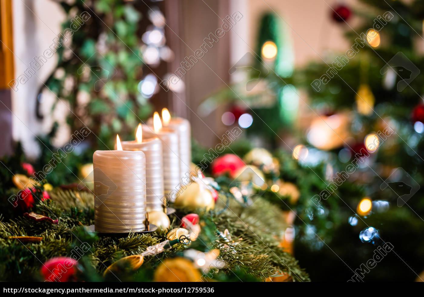 adventskranz, und, weihnachtsbaum - 12759536
