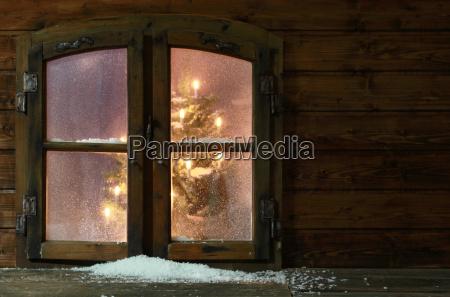 schnee in kleinweinlese fenster scheiben