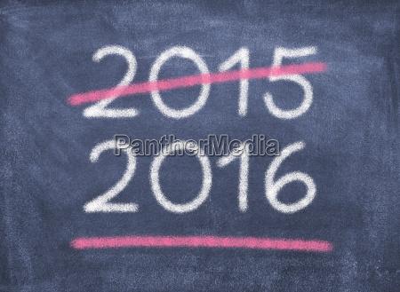 blackboard chalkboard year figures 2015 new