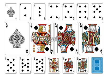 poker groesse spaten spielkarten und umgekehrt