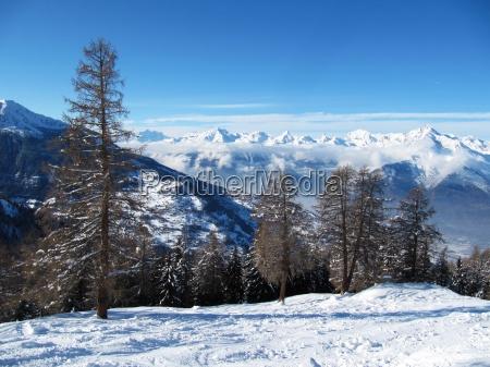 montagne inverno alpi pascolo alpino alpino