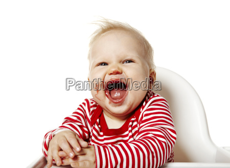 happy baby after eating