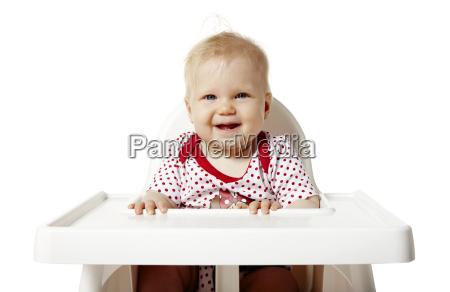 baby wartet auf das mittagessen