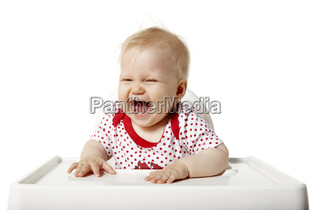 baby laughs