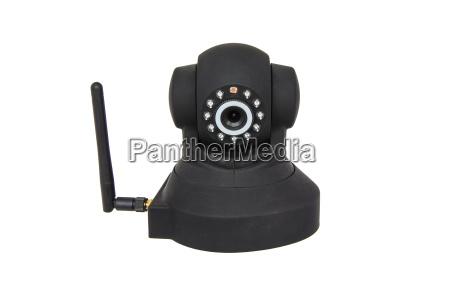 sicherheit drahtlose kamera isoliert auf weiss