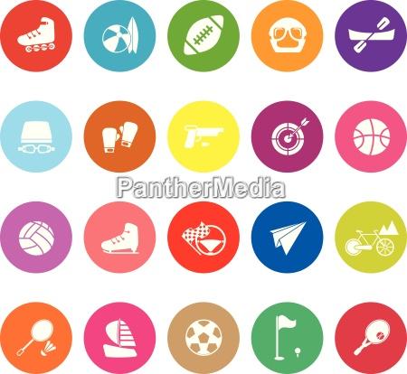 extreme sport flache symbole auf weissem
