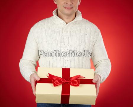 geschenkbox zeigt