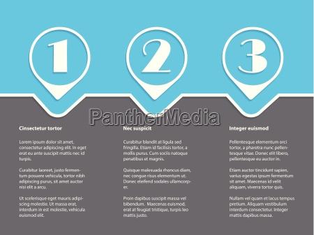 einfache infografik mit weissen sorten auf