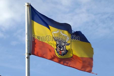 flagge von mecklenburg