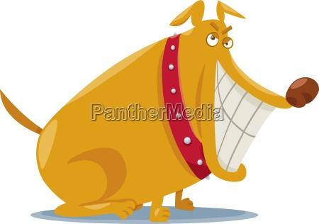 lustige boese hundecartoon illustration