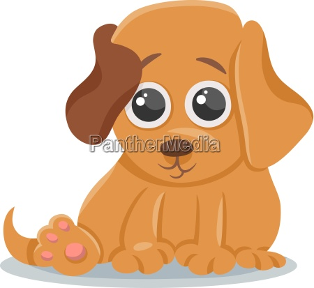 baby hund welpe karikatur illustration