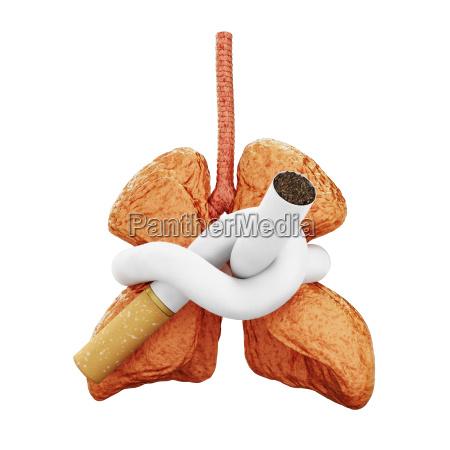 lunge bedroht