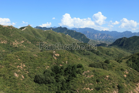 the great wall of china at